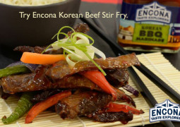 Encona Recipes: Korean Beef Stir Fry with Korean BBQ Marinade