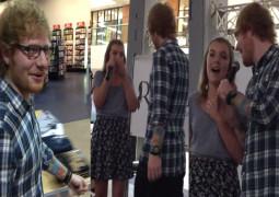 WATCH – Ed Sheeran performs surprise duet with fan