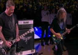 WATCH – Metallica perform US National Anthem at basketball game