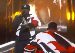WATCH – P Diddy fell down a big hole in the stage